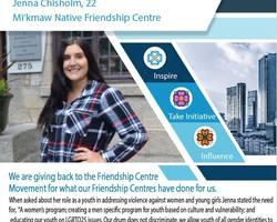 Get to know an Indigenous Youth Champion from the Mi'kmaw Native Friendship Centre